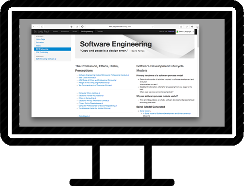 Software engineering page display